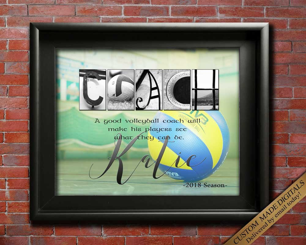 Volleyball Coach Gift, Printable Coaches Gift, Volleyball Coach Appreciation, Volleyball Thanks, Team Gift Coach Retirement Ideas