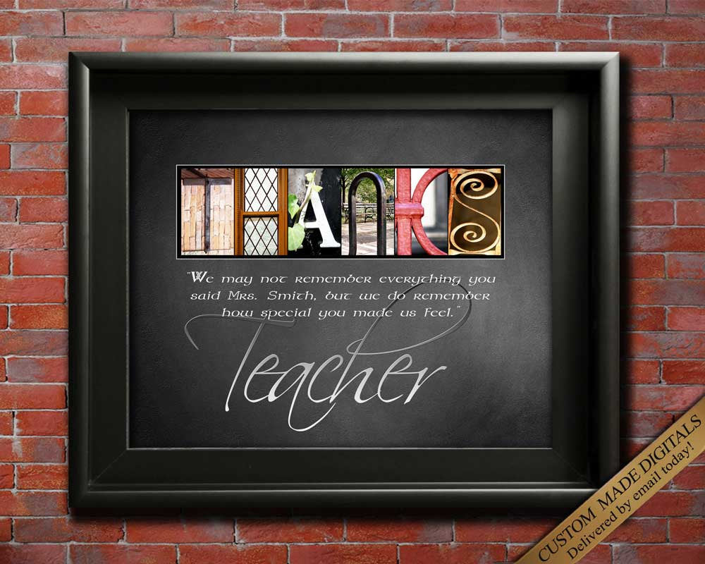 Thank You Teacher Gift For Teacher, Teacher Thanks Quotes, Teacher Appreciation Gift, Personalized Teacher Gift, Gifts For Teacher DIGITAL