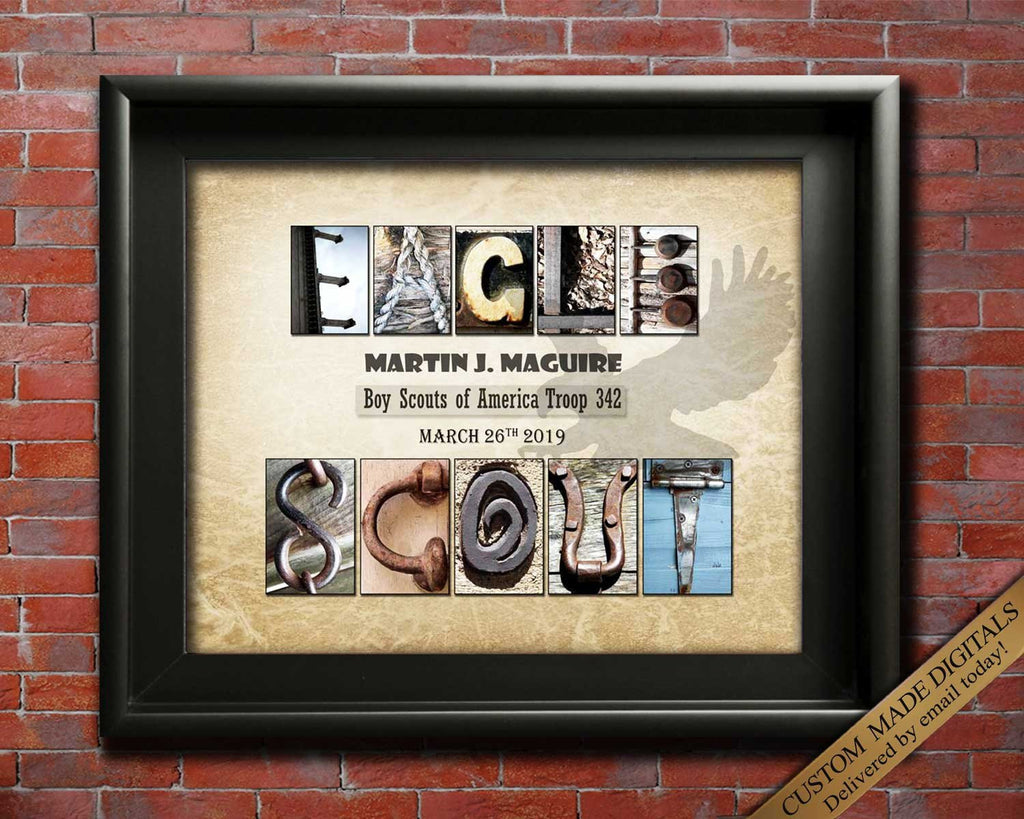 Eagle Scout, Boy Scouts, Girl Scouts, Boy Scout Oath, Cub Scout, Eagle Scout Gift, BOY Scout Gift, GIRL Scout Gift, Scouting Gift, Printable