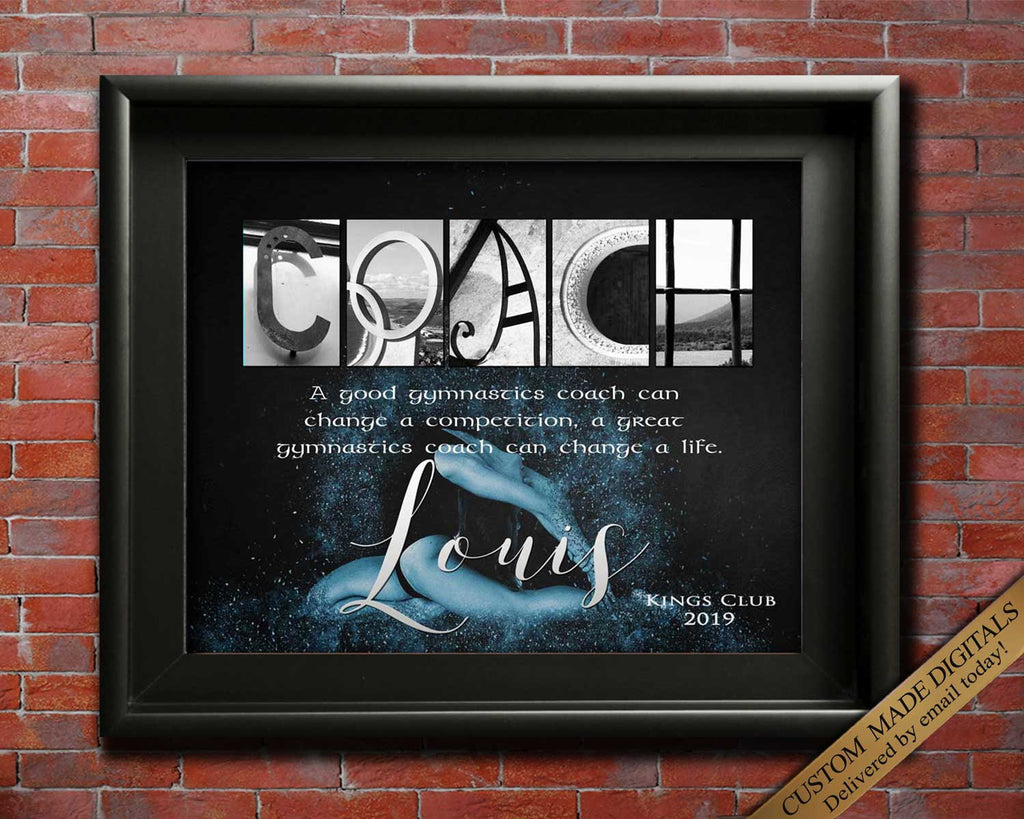 Gymnastics Coach Gift, Gymnastics Coach, Gymnastics Quotes, Gym Coach Appreciation, Personalized Gymnastics Squad Coach Gift Idea