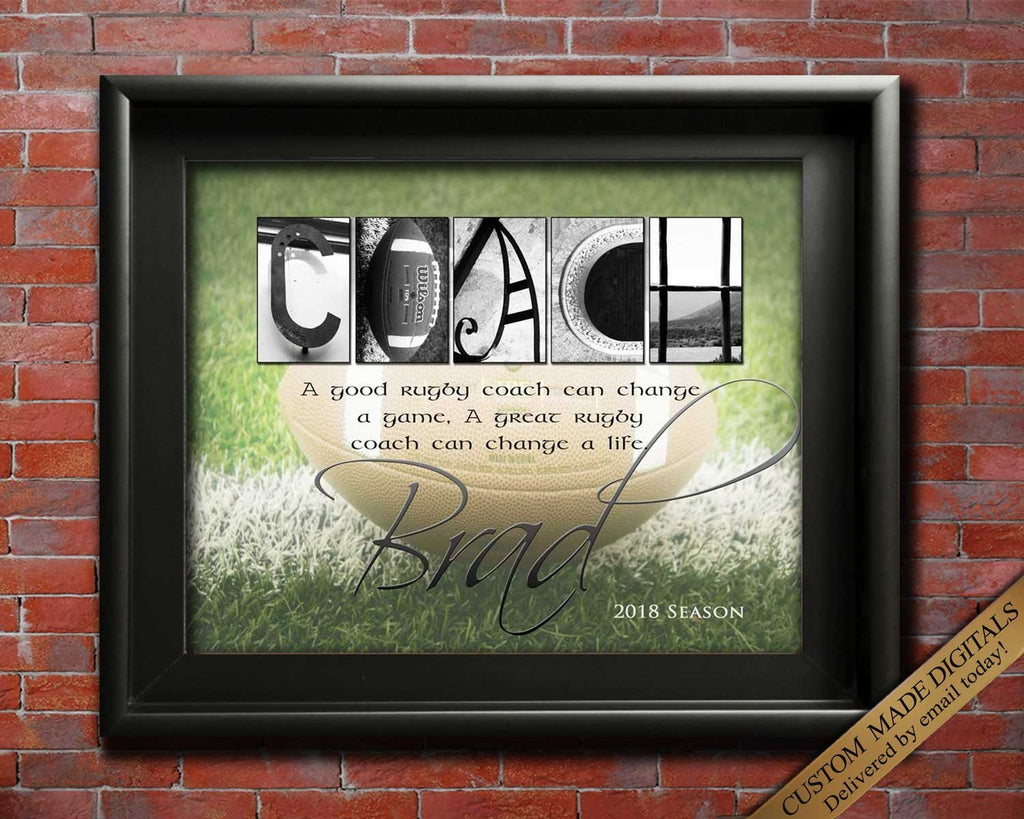 Rugby Gift, Gift For Rugby Coach Gift, Rugby Gift Ideas,  Rugby Coaches, Sports Coach, Rugby Team, Rugby Party Coach Appreciation, Printable