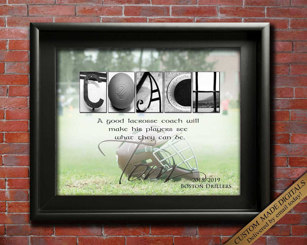 Lacrosse Coach Gift for Boys, Lacrosse Goalie, Lacrosse For Girl, Lacrosse Coach Gifts, Lacrosse Coach Art, Coaches Gift Printable