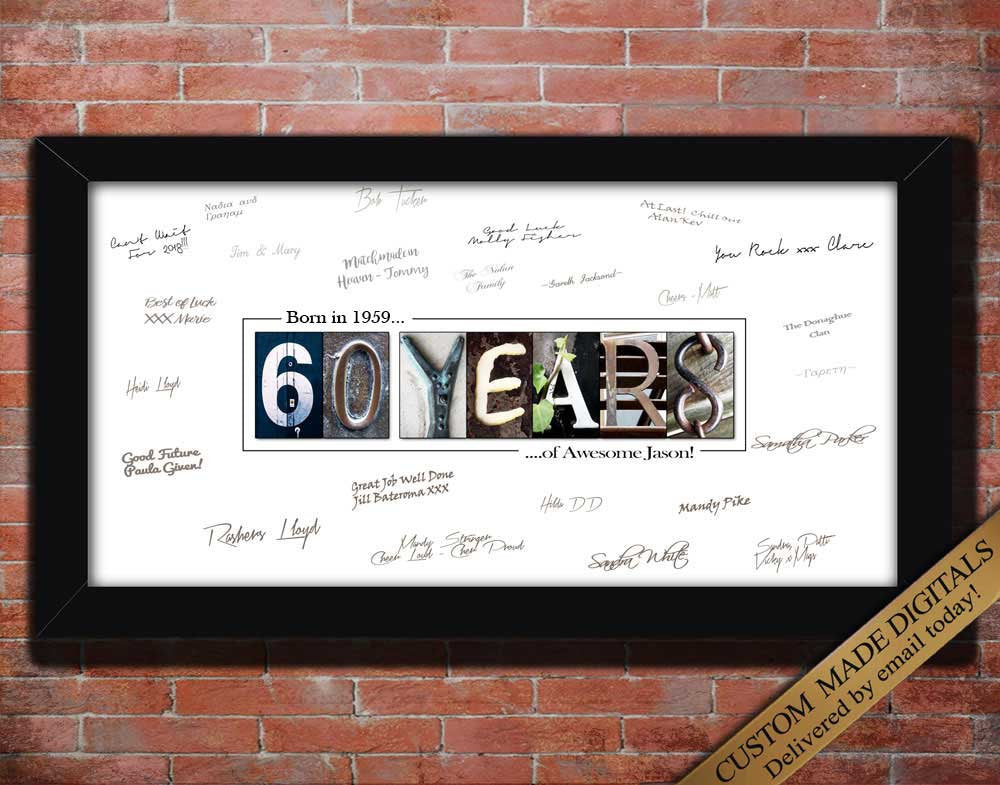 60th Birthday Gift for Men, 60th Birthday Decoration for men, 60th Birthday for men, 60th Birthday Gift for Dad, 60th Birthday Party
