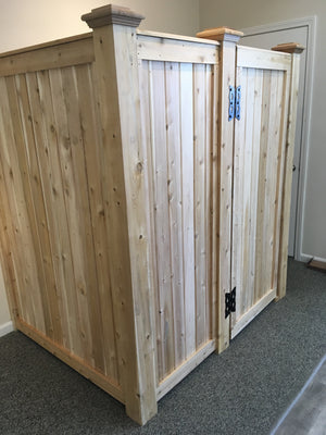 Outdoor Cedar Shower Enclosure   (  CUSTOM ORDER ONLY )