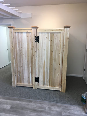 Outdoor Cedar Shower Enclosure