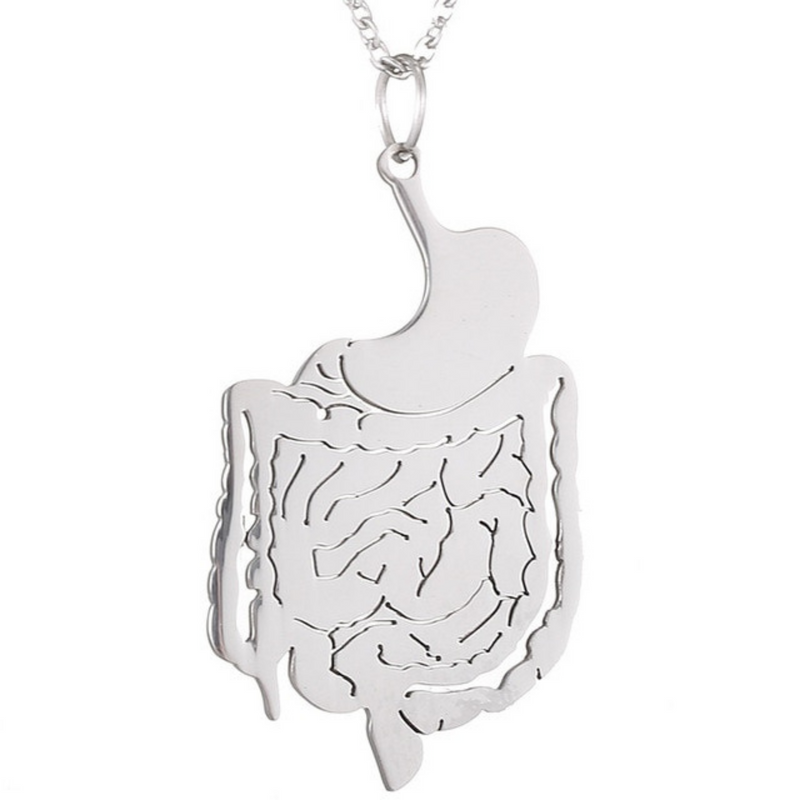 Digestive System Pendant Necklace