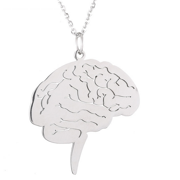 Brain Pendant Necklace