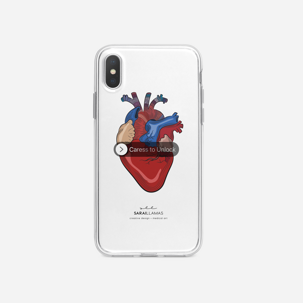Sarai Llamas - Caress My Heart iPhone Case