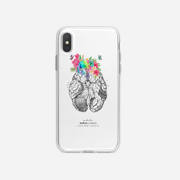 Sarai Llamas - Lizard Brain iPhone Case