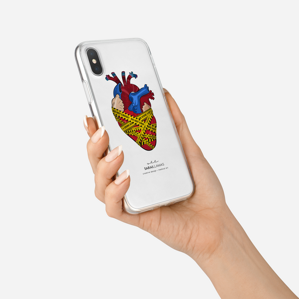 Sarai Llamas - Crime Scene Heart iPhone Case