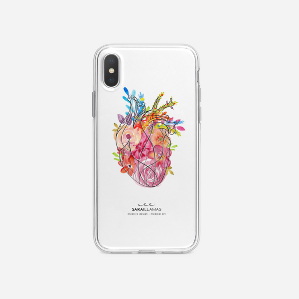 Sarai Llamas - Floral Heart iPhone Case