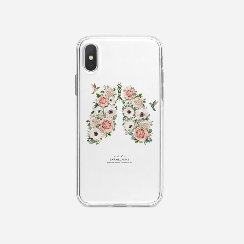 Sarai Llamas - Lungs N' Roses iPhone Case