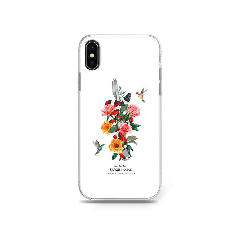 Sarai Llamas - Blooming Scalpel iPhone Case