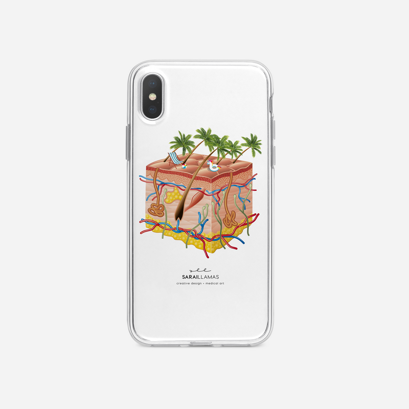 Sarai Llamas - Living Skin iPhone Case