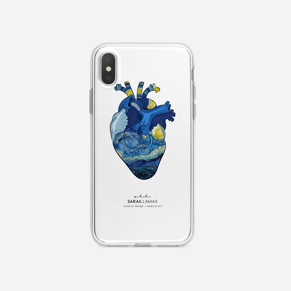 Sarai Llamas - The Starry Heart iPhone Case