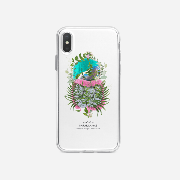 Sarai Llamas - Floral Guts iPhone Case