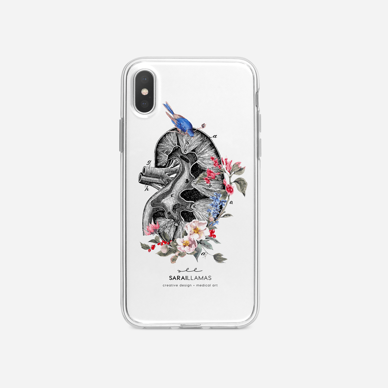 Sarai Llamas - Floral Kidney iPhone Case