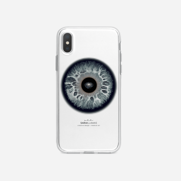 Sarai Llamas - A Galaxy in Your Eyes iPhone Case