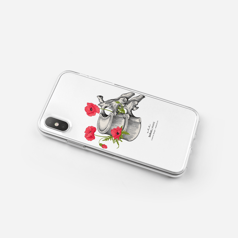 Sarai Llamas - Vertebrae iPhone Case