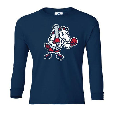 Youth Long Sleeve Alternate Tee Navy