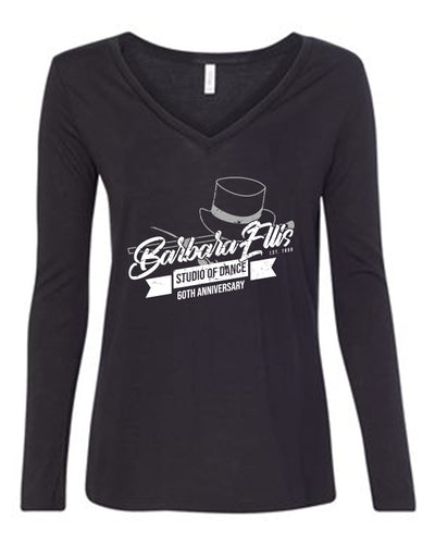 Bella + Canvas Women's Flowy Long Sleeve V-Neck