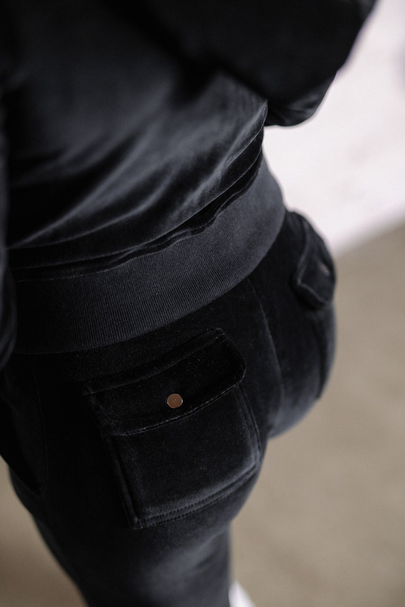 Velour Pants Black