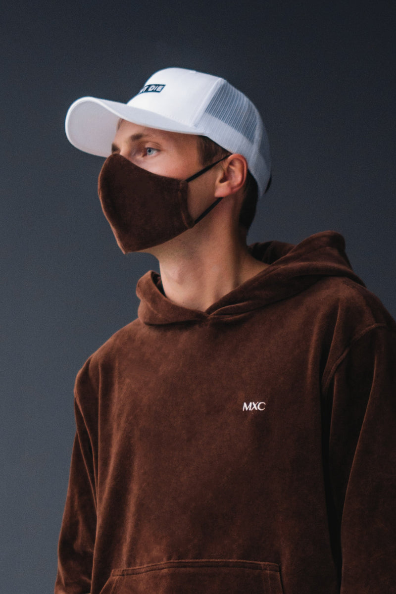 VELOUR FACEMASK // BROWN