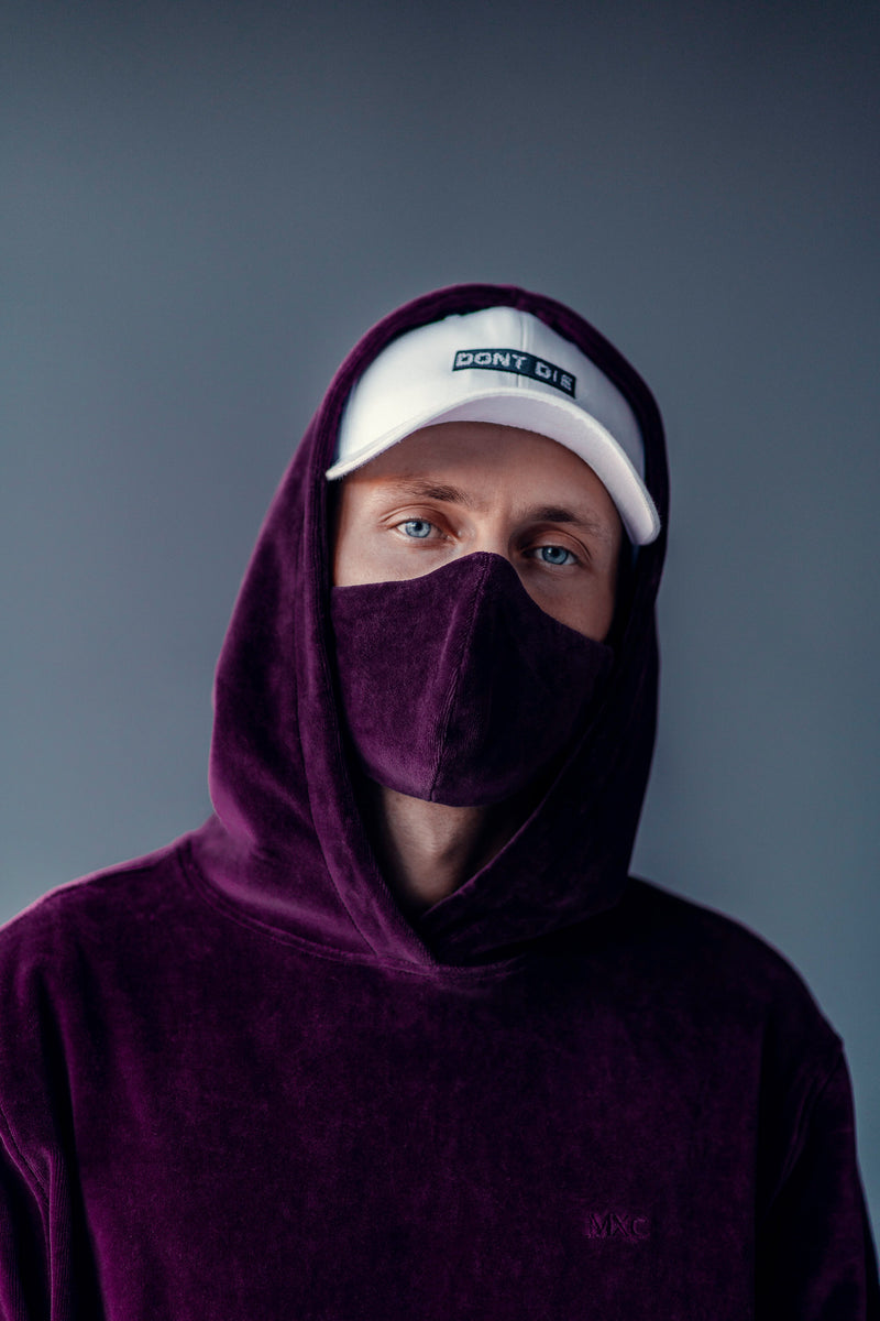 VELOUR FACEMASK // PURPLE LIMITED EDITION