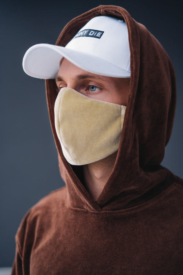 VELOUR FACEMASK // SAND