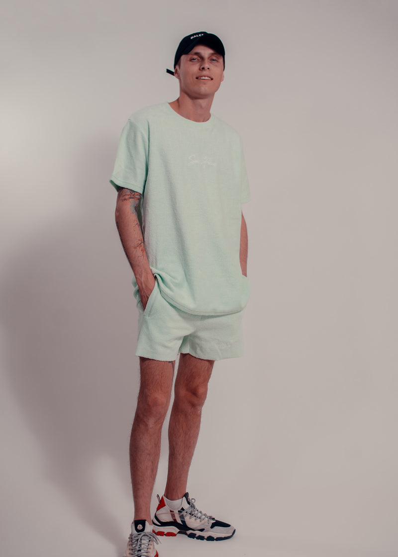 Towel Shorts Mint