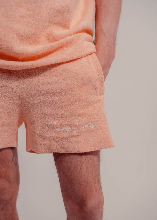 Towel Shorts Peach