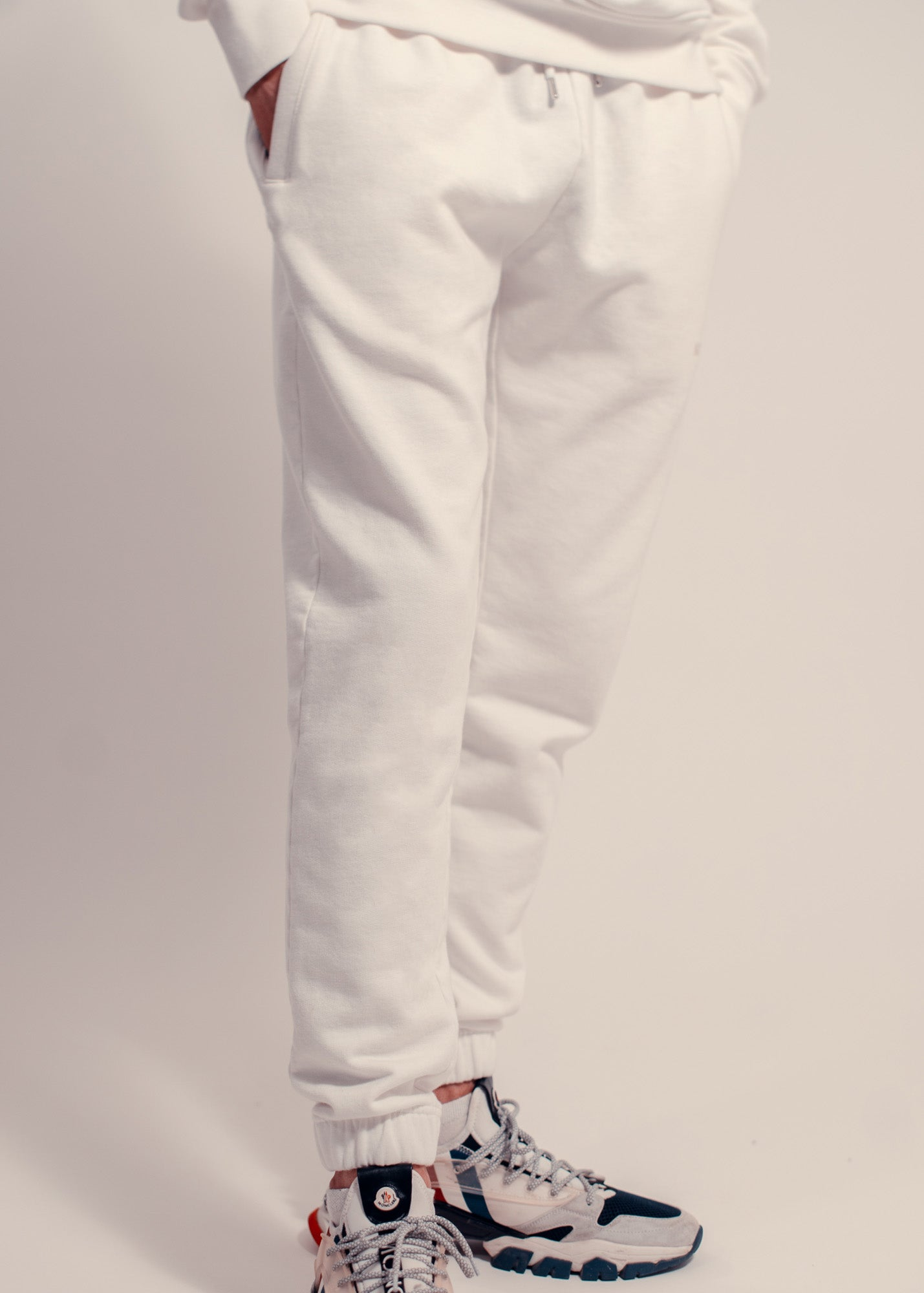 Premium Cotton Jogger Off White