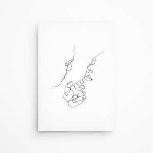 Caressing couple fine art print