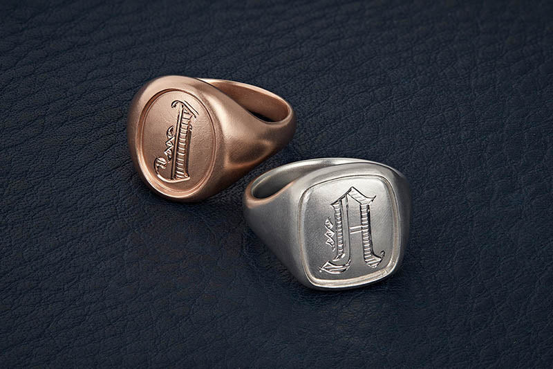 Oval and Cushion Signet Rings