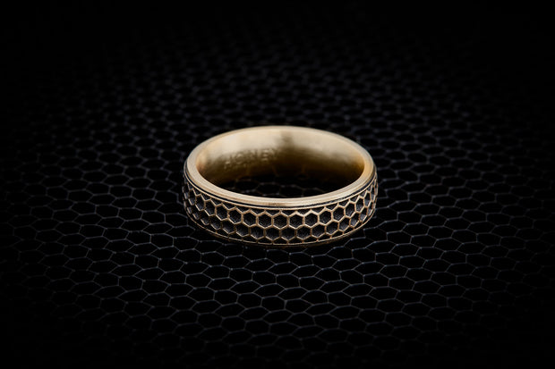 Men's Wedding Band - Honeycomb