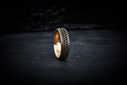 Men's Wedding Ring - Honeycomb
