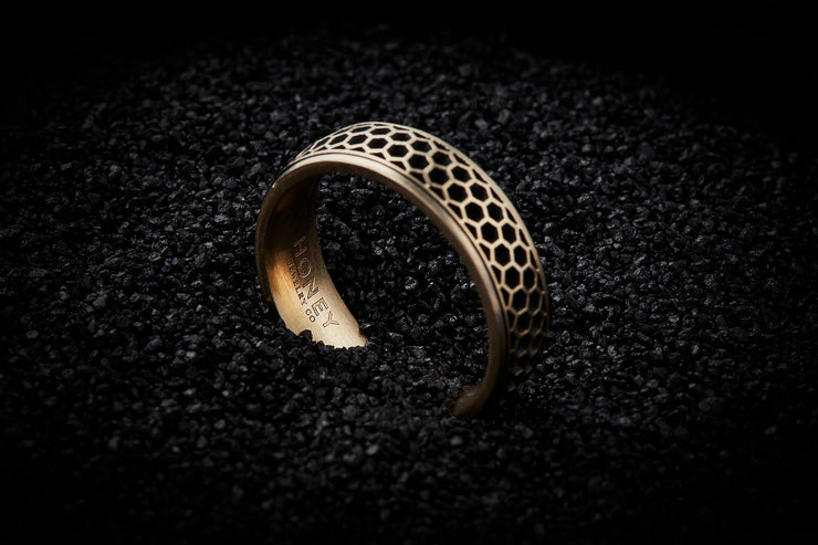 Honeycomb Wedding Band for Men