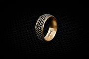 Men's Wedding Band - Honeycomb Pattern