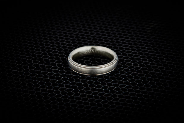 Striped Wedding Band for Men