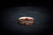 Men's Wedding Band - Hammered Gold