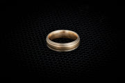 Men's Striped Wedding Ring - 6.5mm
