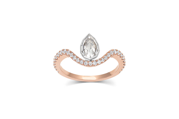 .63ct Geo Pear Cut Diamond Ring