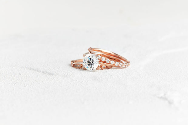 Thin Round Diamond Wedding Band