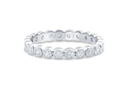 Bezel Set Diamond Wedding Band in White Gold