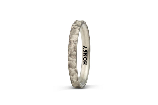 Men's Hammered Wedding Band - 3mm
