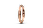 Men's Thin Striped Wedding Band - 3mm