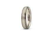 Men's Stripe Wedding Band - 5mm Gold
