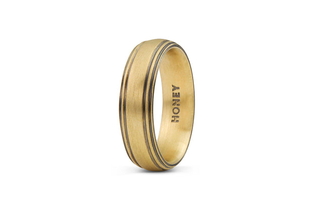 Men's Striped Wedding Band