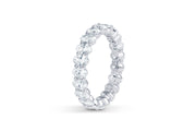 Oval Cut Diamond Eternity Band in White Gold