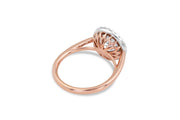 Basket Engagement Ring in Rose Gold | Round Cut | Halo